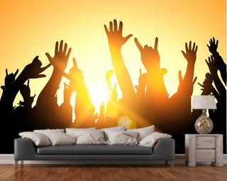 Music wallpaper wall murals wallsauce for Audience wall mural