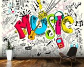 Music Doodle wall mural kitchen preview