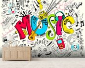 Music Doodle wall mural living room preview