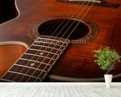 Acoustic Guitar wall mural in-room view