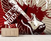 Let's Rock wallpaper mural living room preview