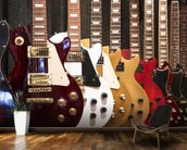Electric Guitars mural wallpaper kitchen preview