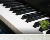 Piano Keyboard wallpaper mural in-room view