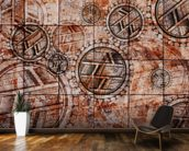 Tribal Red wallpaper mural kitchen preview