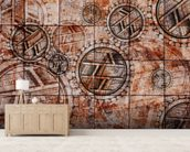 Tribal Red wallpaper mural living room preview