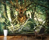 Deer Tree of Brocéliande wall mural kitchen preview