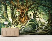 Deer Tree of Brocéliande wall mural living room preview