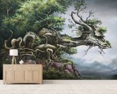 Dragon Tree wallpaper mural living room preview
