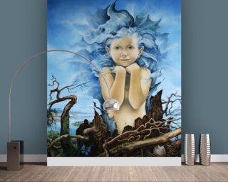 Severine pineaux designer wall murals wallsauce for Ariel wall mural