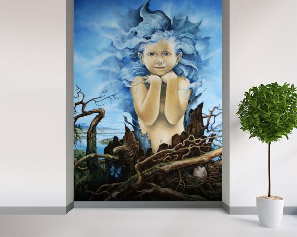 Ariel wall mural wallpaper mural wallsauce for Ariel wall mural