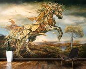 Autumn Horse wall mural kitchen preview