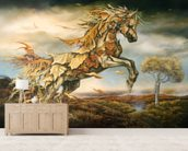 Autumn Horse wall mural living room preview