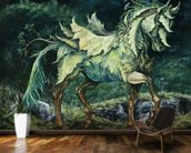 Horse of Leaves wallpaper mural kitchen preview