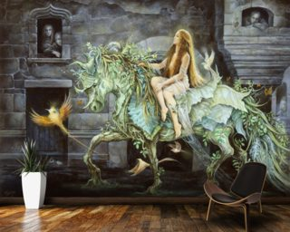She comes into the City Mural Wallpaper Wallpaper Wall Murals