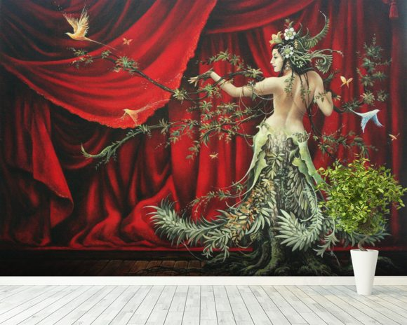The Dancer wall mural room setting