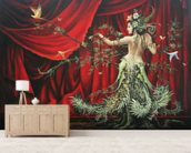 The Dancer wall mural living room preview