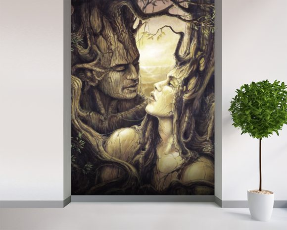The Couple wall mural room setting