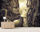The Couple wall mural living room preview