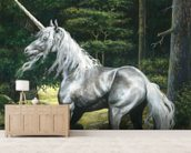Unicorn wall mural living room preview