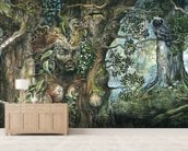 Merlin wallpaper mural living room preview