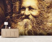 Roots wall mural living room preview