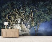 Samhain wallpaper mural living room preview