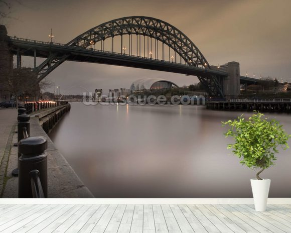 Tyne Bridge mural wallpaper room setting