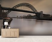 Tyne Bridge mural wallpaper living room preview