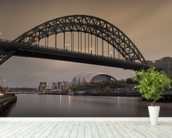 Tyne Bridge mural wallpaper in-room view