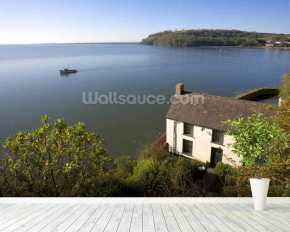 Dylan Thomas Boat House wallpaper mural room setting