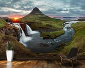 Icelandic Landscape at Sunset wall mural kitchen preview