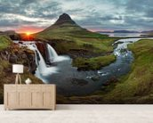 Icelandic Landscape at Sunset wall mural living room preview