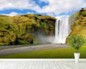 Skogafoss Waterfall, Iceland wallpaper mural in-room view