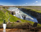 Nvita River & Gullfoss Waterfall, Iceland mural wallpaper kitchen preview