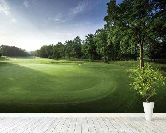 Tranquil Dawn Golf Wall Mural Oak Park Surrey Wallsauce USA