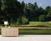 Sherfield Sunset, Sherfield Oaks Golf Club, Hampshire, England wall mural living room preview