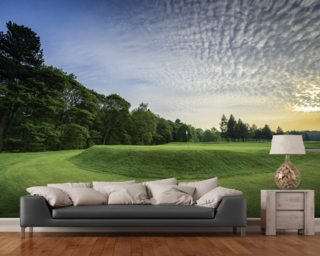Wortley Sunset, Wortley Golf Club, South Yorkshire, England wallpaper mural