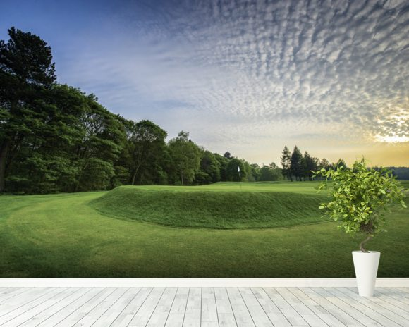 Wortley Sunset, Wortley Golf Club, South Yorkshire, England wallpaper mural room setting