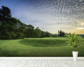 Wortley Sunset, Wortley Golf Club, South Yorkshire, England wallpaper mural in-room view