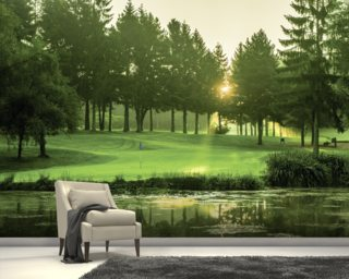 Dawn Sunray, Cottesmore Hotel Golf & Country Club, West Sussex, England Wall Mural Wall Murals Wallpaper