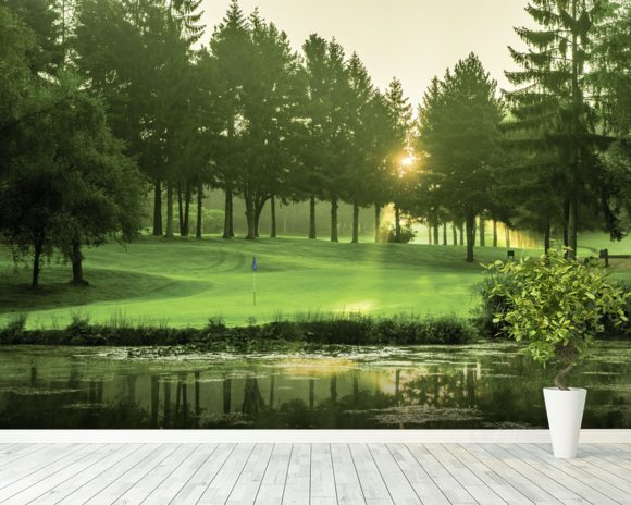 Dawn Sunray Golf Wall Mural Cottesmore Wallsauce Germany
