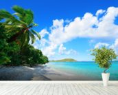 Virgin Islands Beach wall mural in-room view