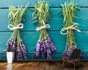 Lavender Bouquets mural wallpaper kitchen preview