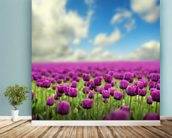 Spring Tulips wallpaper mural in-room view