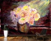 Flower Oil Painting mural wallpaper kitchen preview