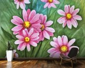 Daisy Illustration wall mural kitchen preview