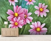 Daisy Illustration wall mural living room preview