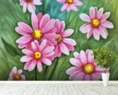Daisy Illustration wall mural in-room view