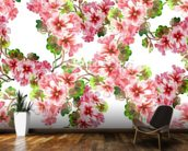 Geranium Pattern wallpaper mural kitchen preview