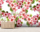 Geranium Pattern wallpaper mural living room preview